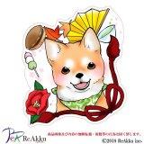 リボン柴犬-舞夢