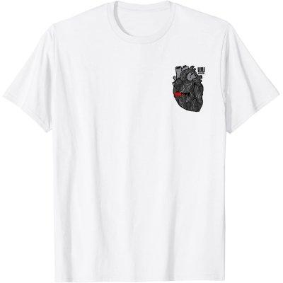 画像1: 【Tシャツ】心臓[黒]-nogi(画像をクリックで販売ページ)